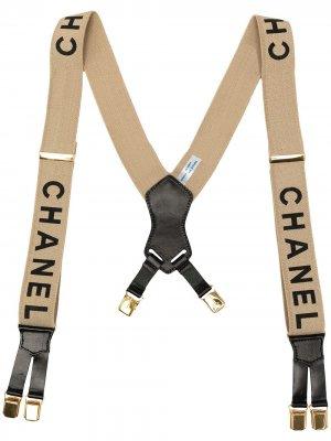 Подтяжки 1997-х годов с логотипом Chanel Pre-Owned. Цвет: нейтральные цвета