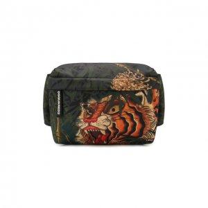 Текстильная поясная сумка Dsquared2. Цвет: разноцветный