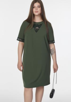 Платье Fly. Цвет: хаки