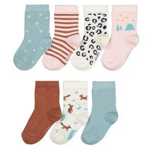Комплект из 7 пар носков La Redoute. Цвет: разноцветный