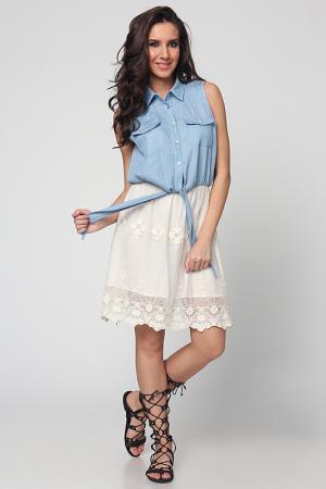 Платье Cocogio. Цвет: бежевый