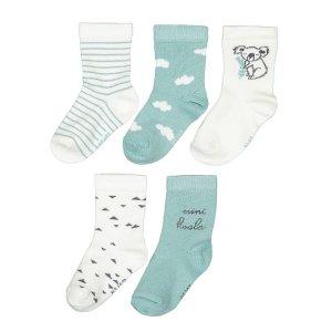 Комплект из 5 пар носков LaRedoute. Цвет: синий