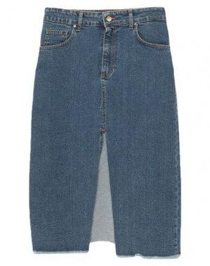 Джинсовая юбка FLY GIRL. Цвет: синий