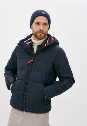 Куртка утепленная Indicode Jeans. Цвет: синий