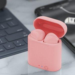 Гарнитура спортивный Беспроводной Bluetooth SHEIN. Цвет: розовые