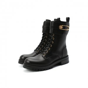 Кожаные ботинки Versace. Цвет: чёрный