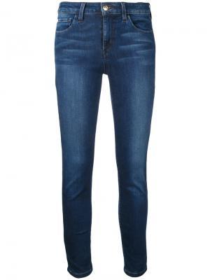 Укороченные джинсы с потертостями Joes Jeans Joe's. Цвет: синий