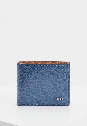 Кошелек Furla MAN PROJECT BI-FOLD COIN. Цвет: синий