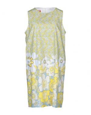 Короткое платье ANDREA TURCHI. Цвет: желтый