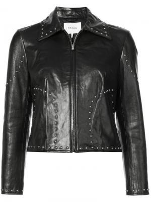 Куртка узкого кроя Frame Denim. Цвет: чёрный
