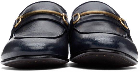 Navy Chiltern Roller Bar Loafers Dunhill. Цвет: 410 navy