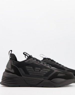 Черные кроссовки на массивной подошве с принтом орла Ace-Черный EA7