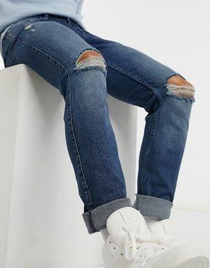 Узкие джинсы -Синий Dr Denim