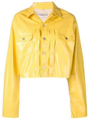 Приталенная джинсовая куртка Fiorucci. Цвет: желтый