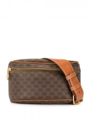 Поясная сумка с узором Macadam Céline Pre-Owned. Цвет: коричневый