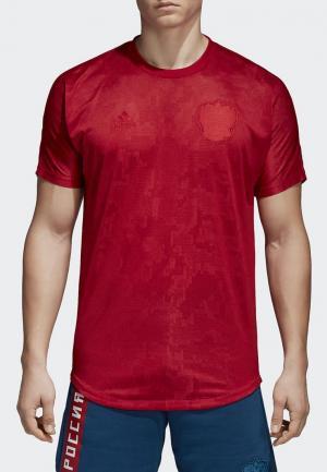 Футболка adidas RFU SSP TEE. Цвет: красный