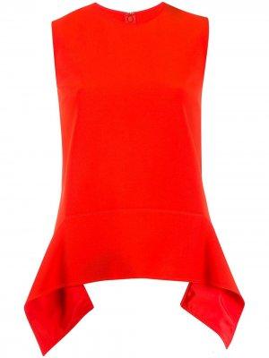 Топ асимметричного кроя без рукавов Victoria Beckham. Цвет: красный