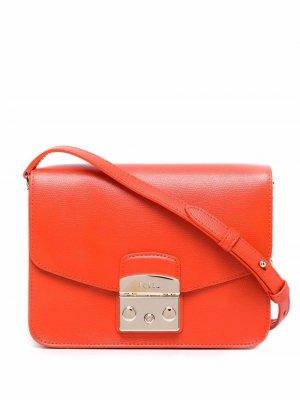 Маленькая сумка через плечо Metropolis Furla. Цвет: оранжевый