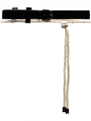 Ремень Kenya с веревкой Ann Demeulemeester. Цвет: черный