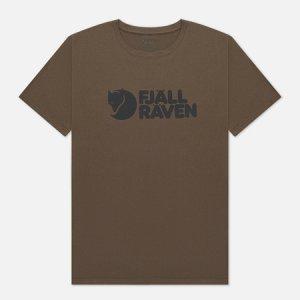 Мужская футболка  Logo M Fjallraven. Цвет: оливковый