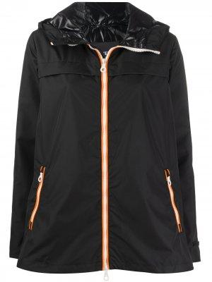 Куртка на молнии с капюшоном Duvetica. Цвет: черный