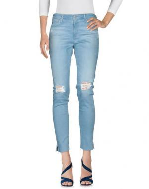 Джинсовые брюки AG JEANS. Цвет: синий