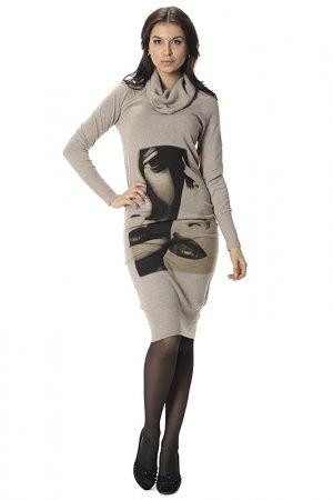 Платье Adelia. Цвет: бежевый