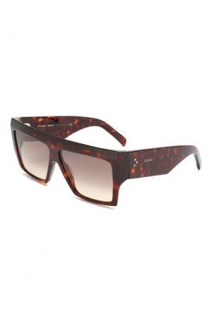 Солнцезащитные очки Celine Eyewear. Цвет: коричневый