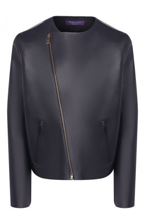 Кожаная куртка Ralph Lauren. Цвет: синий