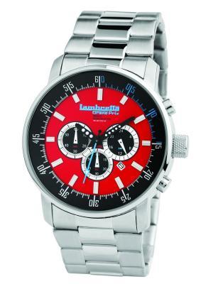 Часы Lambretta Imola Bracelet Red. Цвет: серебристый