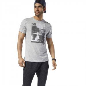 Спортивная футболка Graphic Series One Training Photo Print Reebok. Цвет: medium grey heather