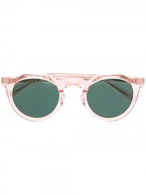 Солнцезащитные очки Picas Lesca. Цвет: розовый