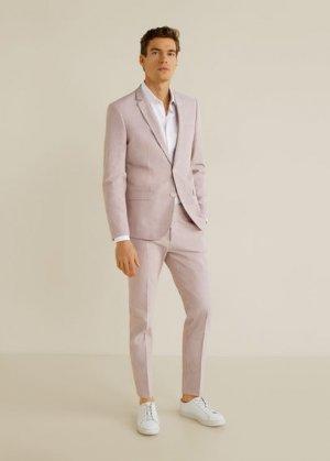 Костюмный пиджак super slim fit сирсакер - Peso Mango. Цвет: красный