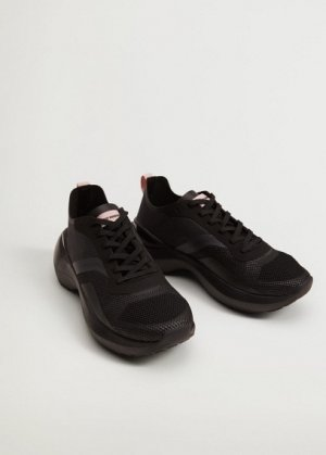 Кроссовки с прозрачными вставками - Push Mango. Цвет: черный