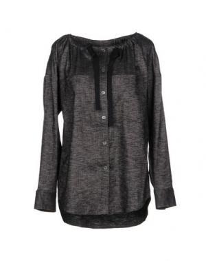 Джинсовая рубашка THEORY. Цвет: стальной серый