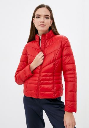 Куртка утепленная Vero Moda. Цвет: красный