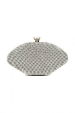 Clutch CARLA FERRERI. Цвет: silver