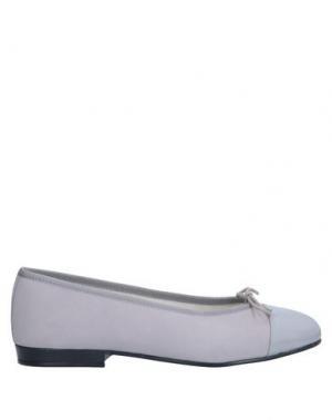 Балетки FRENCH SOLE. Цвет: серый