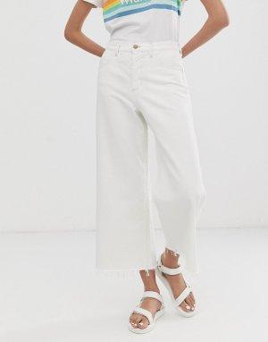 Укороченные расклешенные джинсы -Белый Wrangler