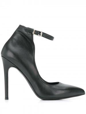 Туфли с ремешком на щиколотке Albano. Цвет: черный