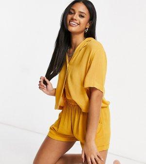 Пляжные шорты на шнурке от комплекта горчичного цвета Exclusive-Желтый Iisla & Bird
