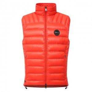 Пуховый жилет RLX Ralph Lauren. Цвет: оранжевый