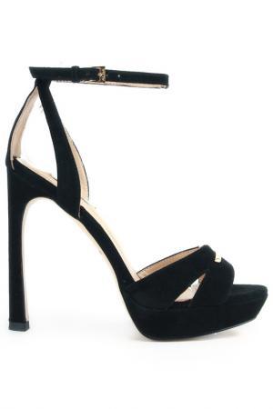 Туфли летние открытые Alba. Цвет: черный