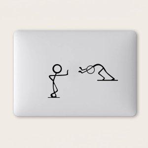 1 лист Наклейка для ноутбука с узором SHEIN. Цвет: чёрный