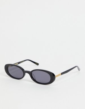 Черные овальные солнцезащитные очки в стиле ретро -Черный цвет Hot Futures