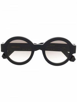 Солнцезащитные очки Laura в круглой оправе GIGI STUDIOS. Цвет: черный