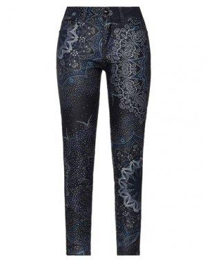 Повседневные брюки DESIGUAL. Цвет: темно-синий