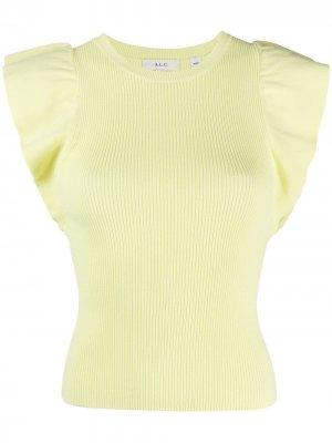 Топ тонкой вязки A.L.C.. Цвет: желтый