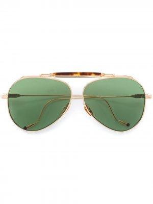 Солнцезащитные очки авиаторы Geronimo Jacques Marie Mage. Цвет: золотистый