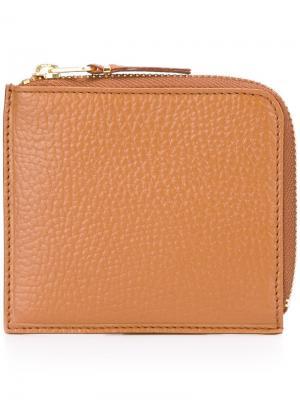 Классический бумажник на молнии Comme Des Garçons Wallet. Цвет: коричневый
